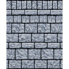 Gothic Halloween Scene Setter Stone Wall Room Roll Decoration Set