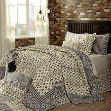 Elysee 100 Cotton King Quilt Black/gray/cream Fleur De Lis Symbol ... : 100 cotton quilts king - Adamdwight.com