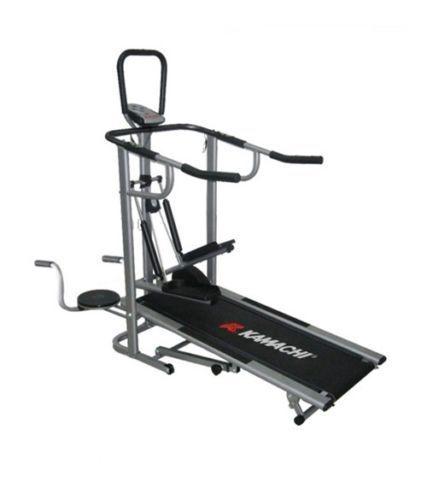 Kamachi treadmill 4 in 1 manual jogger twister stepper push up bar gym
