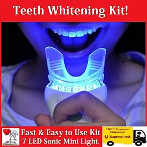 Teeth-Whitening-Kit-7-LED-Sonic-Light-15-Treatments-Hi-Pearly-White-Smile