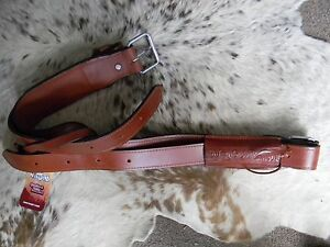 2-1-2-034-Wide-MEDIUM-OIL-LEATHER-Rear-Girth-Flank-Cinch-amp-Billets-New-Horse-Tack