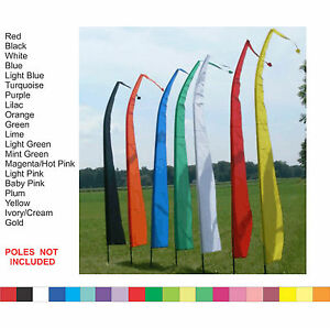 Details About Bali Flags 3 Meter Colour Wedding Beach Garden Party 3m No Pole Included