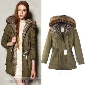 Womens-Warm-Hooded-Military-Army-Green-Oversized-Jacket-Coat-Winter