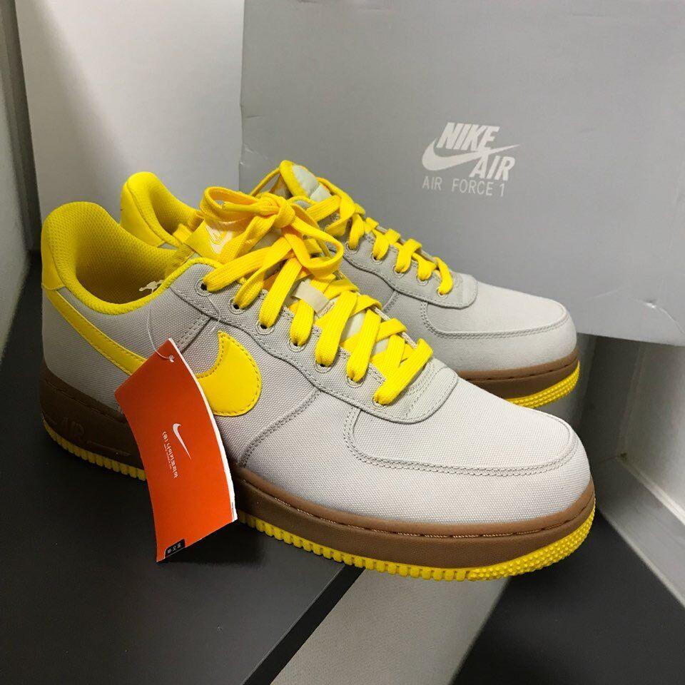 sale retailer 3530e 0a977 Nike Air Force 1 07 TXT Yellow AJ7282-002 Size US 5-13 shoes Men's ...