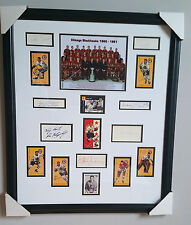 1960-61 Chicago Blackhawks Stanley Cup Champs Framed w/ 16 autographs JSA Letter