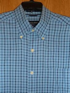 Austin Reed Regent Street Oxford Blue Tonal Windowpane Check Ls Shirt Mens M Ebay