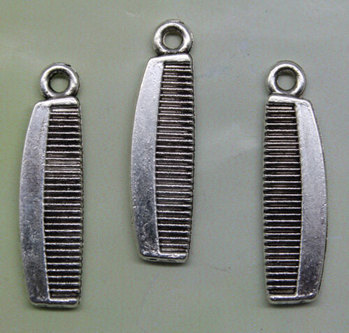 10//30//60//100pcs retro style comb alloy charm pendants DIY material 26x7mm