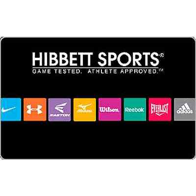 Hibbett Sports Gift Card - $25, $50 or $100 - Email delivery
