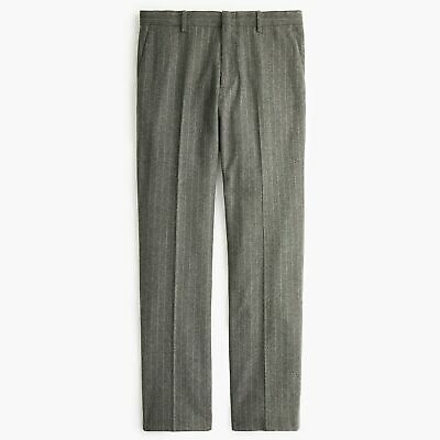 J CREW 32 x 32 Ludlow Slim-fit Suit Pant Charcoal Italian Stretch Wool Flannel