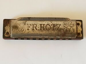 Vintage-FR-HOTZ-Germany-034-Atta-Boy-034-German-Harmonica