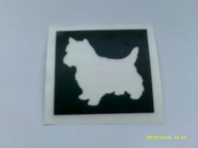 Irish Red setter dog stencils for etching on glass  etch craft hobby glassware