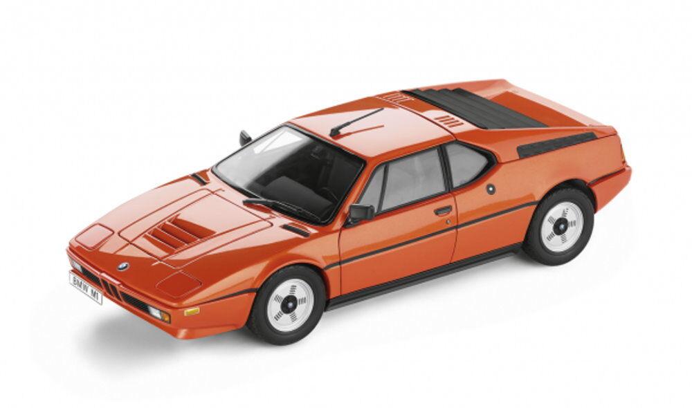 Original BMW M1 Heritage Collection Miniatur 1 18 Orange 80432411549 NEU    Kostengünstig
