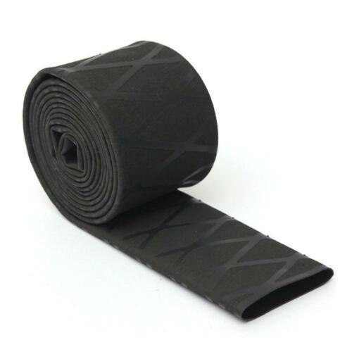 Noir Deluxe Diamond Wrap X Wrap antidérapants texturé Heat Shrink Wrap Tube