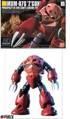 Focoso Gundam Hg 019 Msm-07s Z'gok Char's Amphibious Mobile Suite Bandai Model Kit New Prestazioni Affidabili