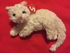 - MWMTs Stuffed Animal STARLETT the White Cat TY Beanie Baby 6.5 inch
