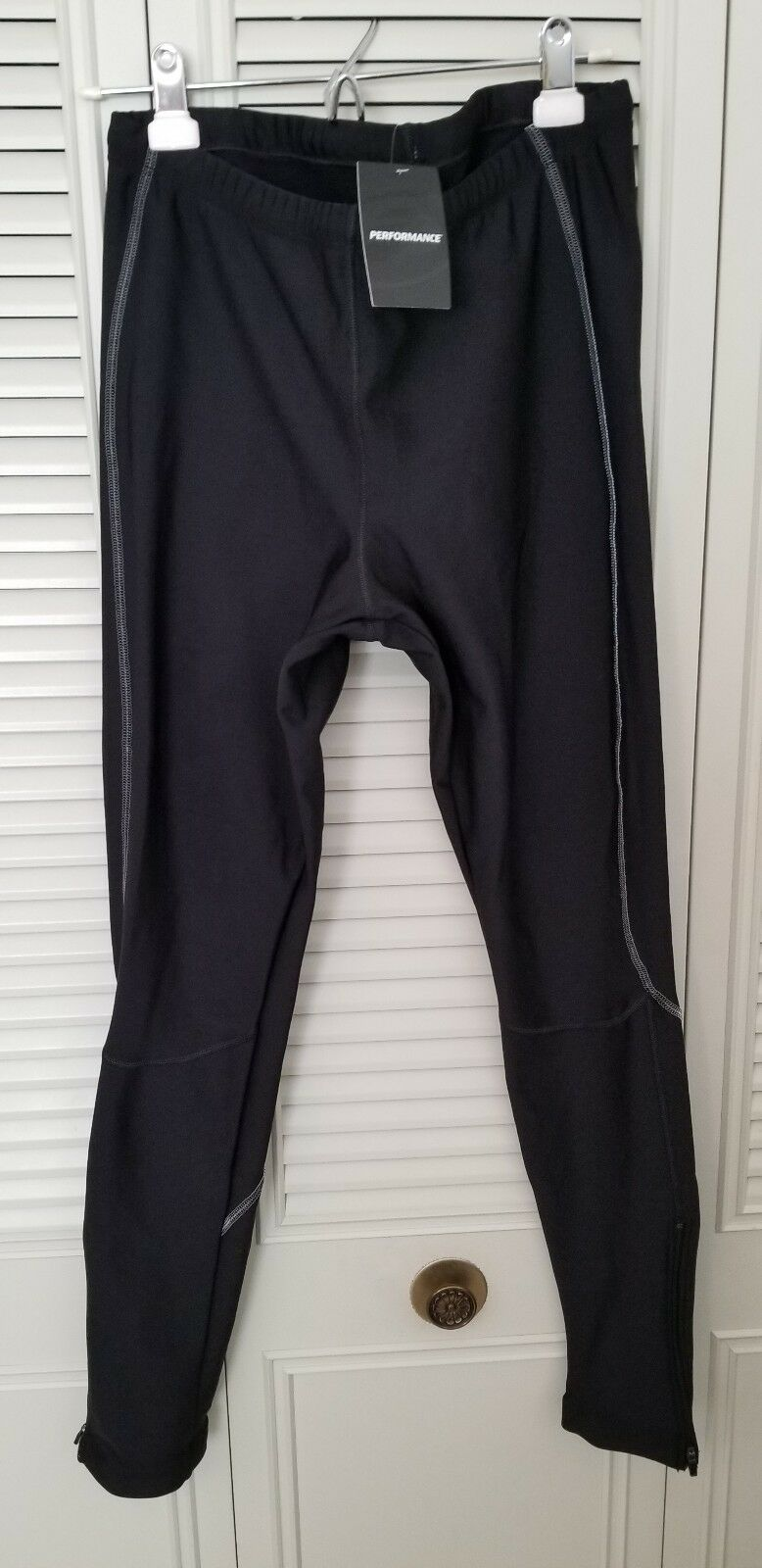 PERFORMANCE CYCLING MEN'S TIGHTS BOUNDARY II SZ XL FLEECE TYPE LINED NEW W  TAG