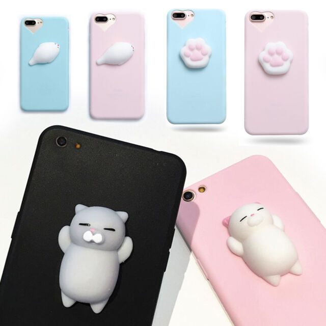 Lovely Squishy 3D Animal Kneading Pinch Silicone Case Cover For iPhone 7 6 Plus