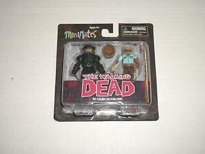 Walking Dead Minimates Series 3 Riot Gear Rick /& Guard Zombie