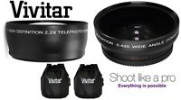 2-pc Lens Set Pro Hd Wide Angle & Telephoto Lens Kit For Pentax K-r Kr