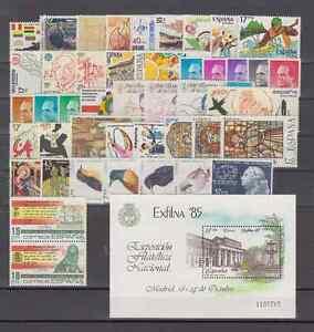 ESPAGNE-ANO-1985-NUEVO-MNH-COMPLETO-ESPANA-EDIFIL-2778-2824-CON-HOJITA