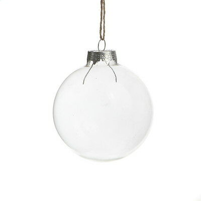 Clear Glass Ball Wedding Balls Christmas Glass Ornaments Pendants Party Decor Ebay