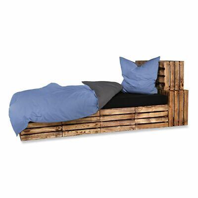 4 Tlg Bettwäsche Bettgarnitur Bettbezug Baumwolle Uni Wende Blau 135 X 200 Bettwäschegarnituren Gehorsam 2 Bettwaren, -wäsche & Matratzen