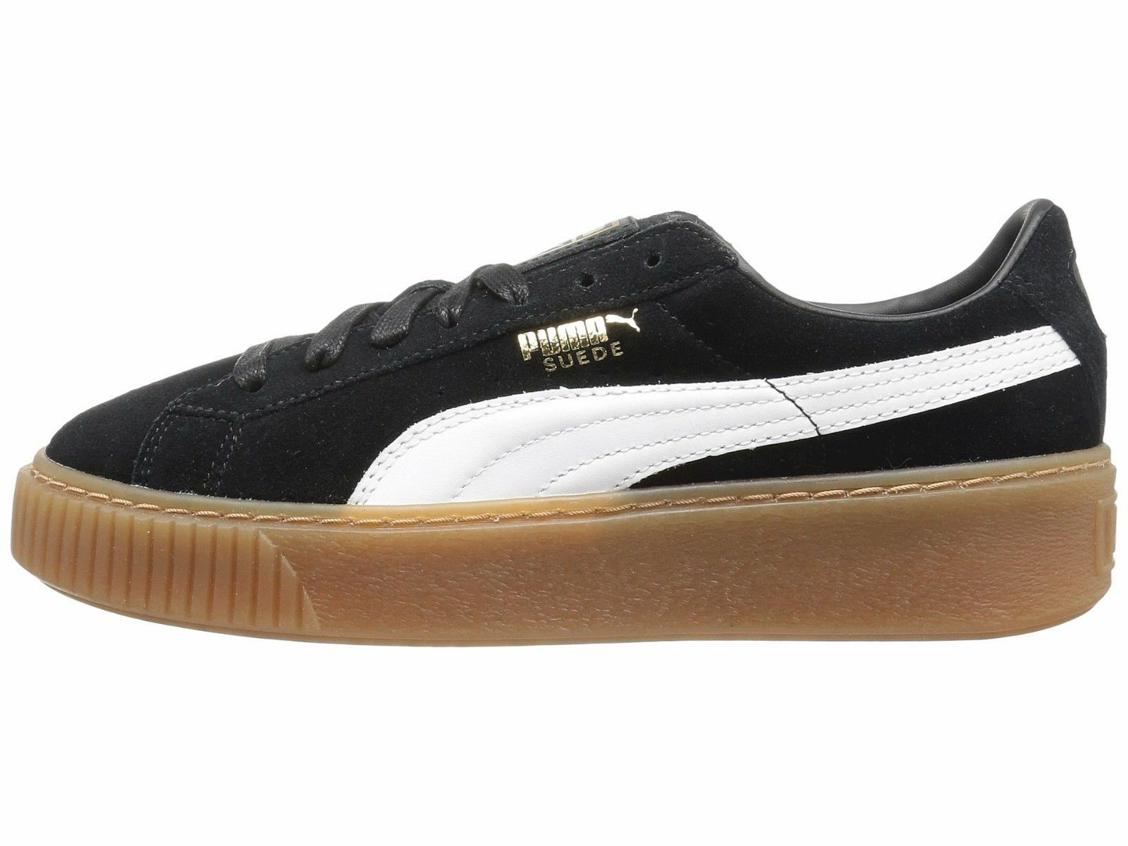 PUMA Suede Platform Core nero   bianca bianca bianca Donna  scarpe da ginnastica 363559-02 4d9b1d