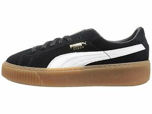 66c98d556a31 PUMA Suede Platform Core Black   White Women s Sneakers 363559-02