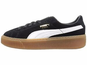 e80c4037f50 Details about PUMA Suede Platform Core Black   White Women s Sneakers  363559-02