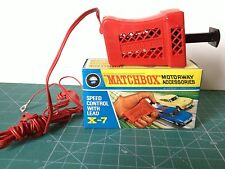 MATCHBOX MOTORWAY ACCESSORIES X-7 VINTAGE EN SU CAJA ORIGINAL VER FOTO