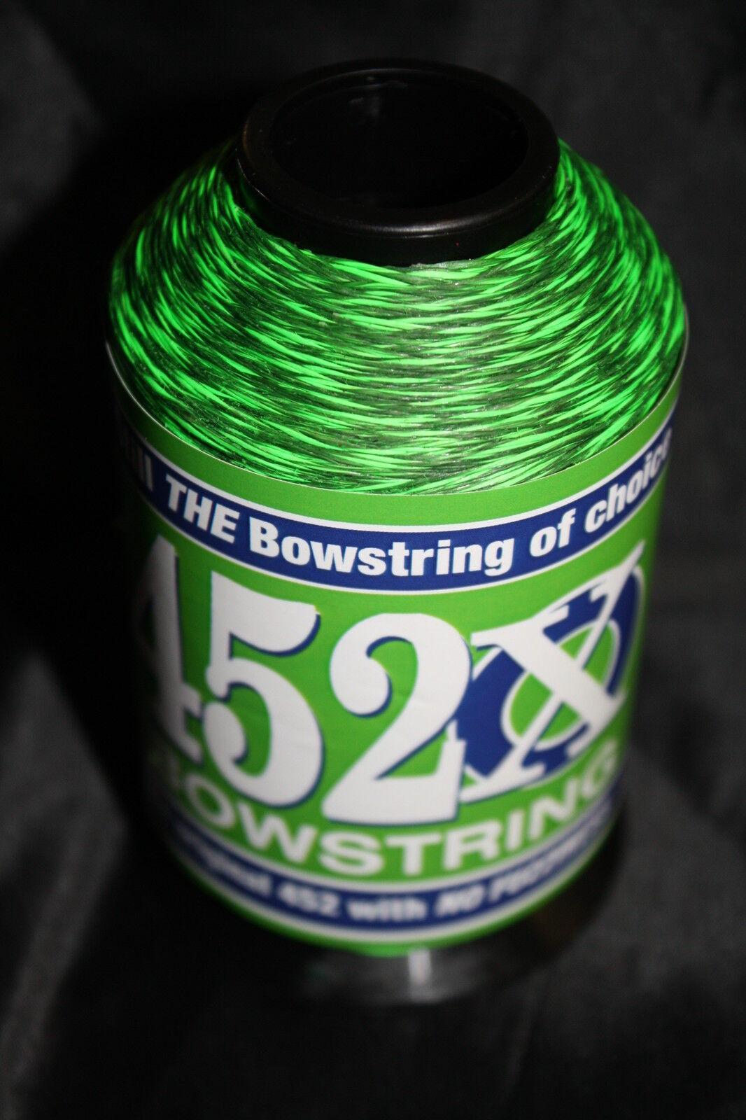 Flo verde y Negro 1 4lb BCY 452X Cuerda de arco material Arco Cuerdas haciendo