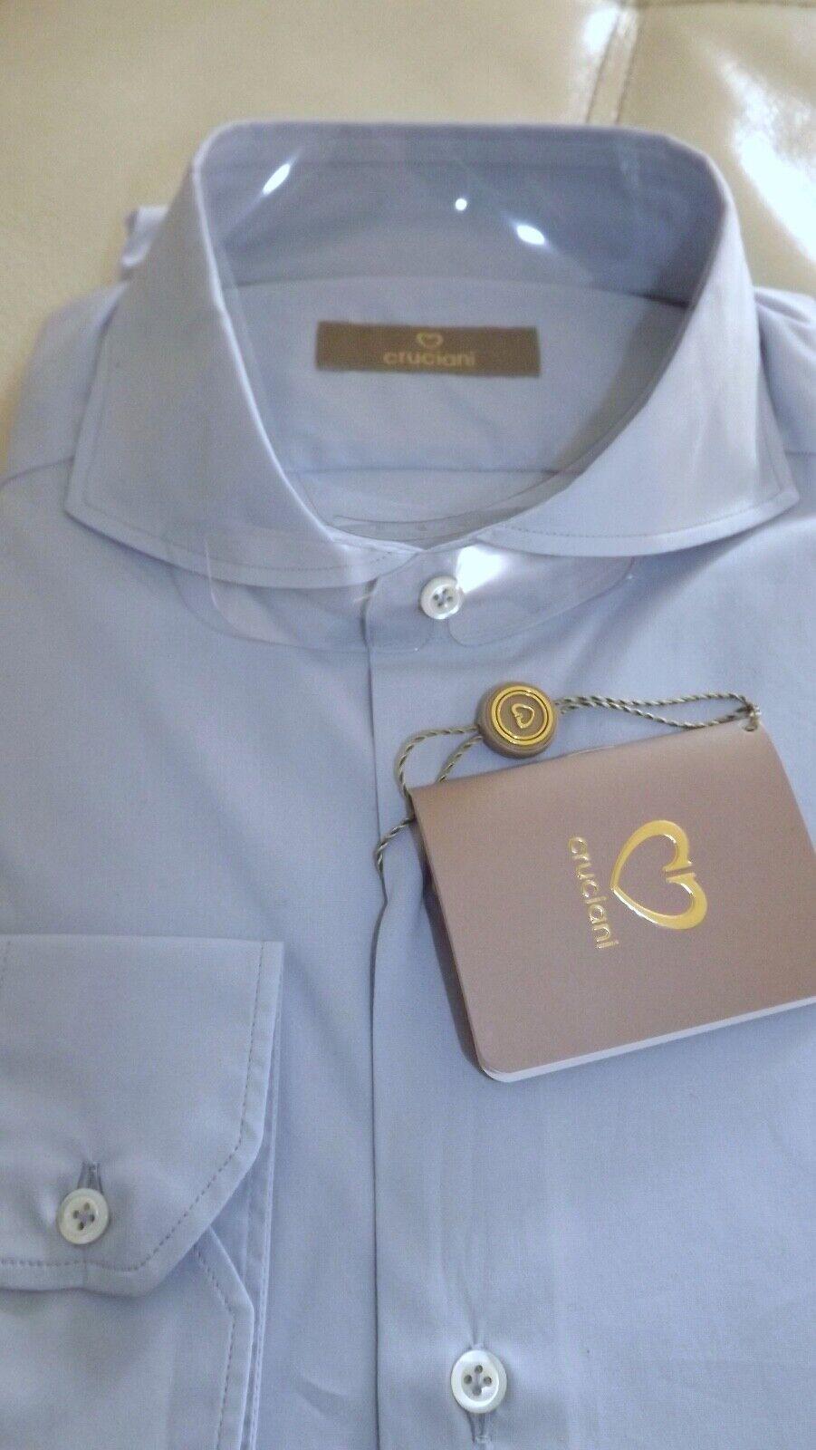 Cruciani 1° Linea Nuova Collezione Shirt 44 240,00 Cartel. Cotton Handmade