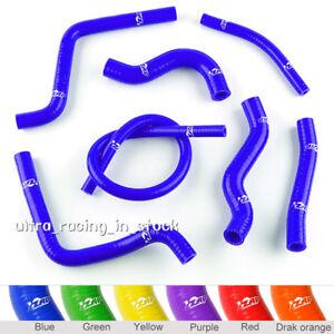 Blue fit Honda CR 125 R CR125R CR125 2001-04 Silicone Radiator Coolant Hose Kit