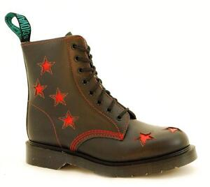 Stars In Red S073 8 Solovair Nps Made Eye Boot Shoes Black England 8938bkr qntztAxw6Z