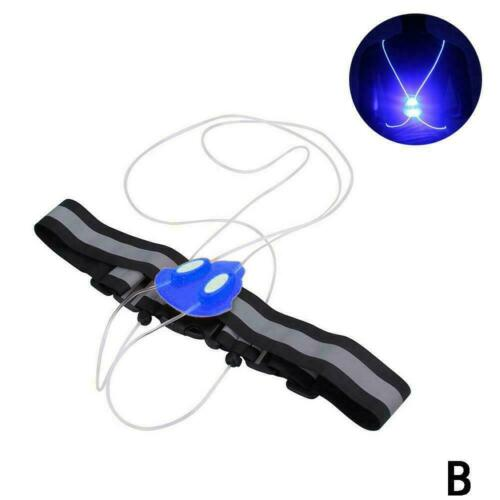 Flashing Motorcycle LED Light Up Safety Reflective Running Cycling Jacket V I8V0