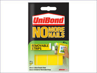 UNIBOND NO MORE NAILS REMOVABLE STRIPS DOUBLE SIDED INTERIOR EXTERIOR 20mmx40mm
