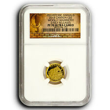 2014 Wooly Mammoth NGC PF70 ER Canada 1/10th oz Proof Gold Coin
