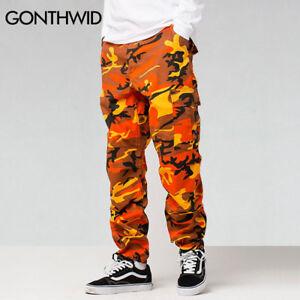 Camo Cargo Pants Men Baggy Tactical Hip Hop Casual Cotton Multi ... 31e5106911b