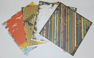 """8 Kaisercraft Double Sided Extreme Scrapbooking Paper 12""""x12"""" Card Making Craft"""