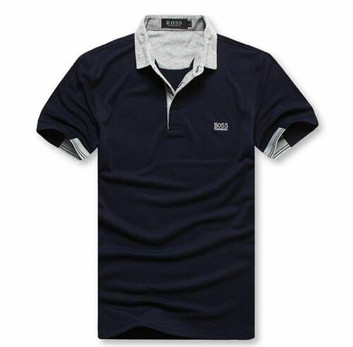 Men/'s Casual Pure Cotton Short Sleeves Polo Shirt T-shirt Button-Down Tee shirt