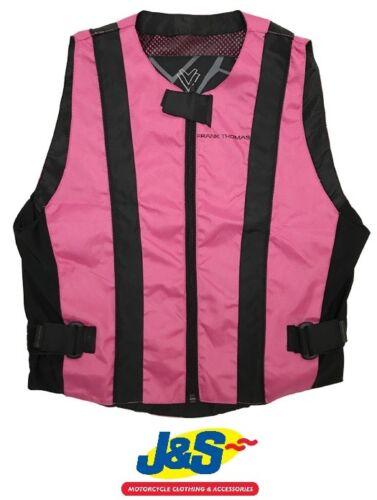 Frank Thomas Hi Viz Vest Over High Visibility Pink Reflective Safety Ladies J&S