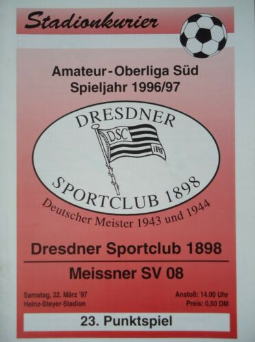 Meissner SV Programm 1996//97 Dresdner SC 1898