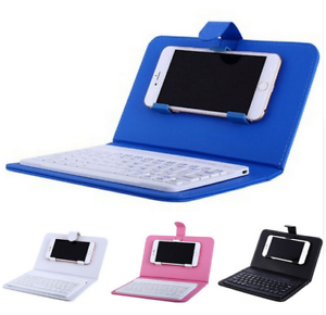 Pu Leather Wireless Bluetooth Keyboard With Case For Iphone Mobile Phone Ebay
