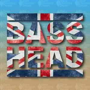 Bass Head Union Jack UK Flag Dubstep Bassnectar Custom Vinyl - Custom vinyl decals uk