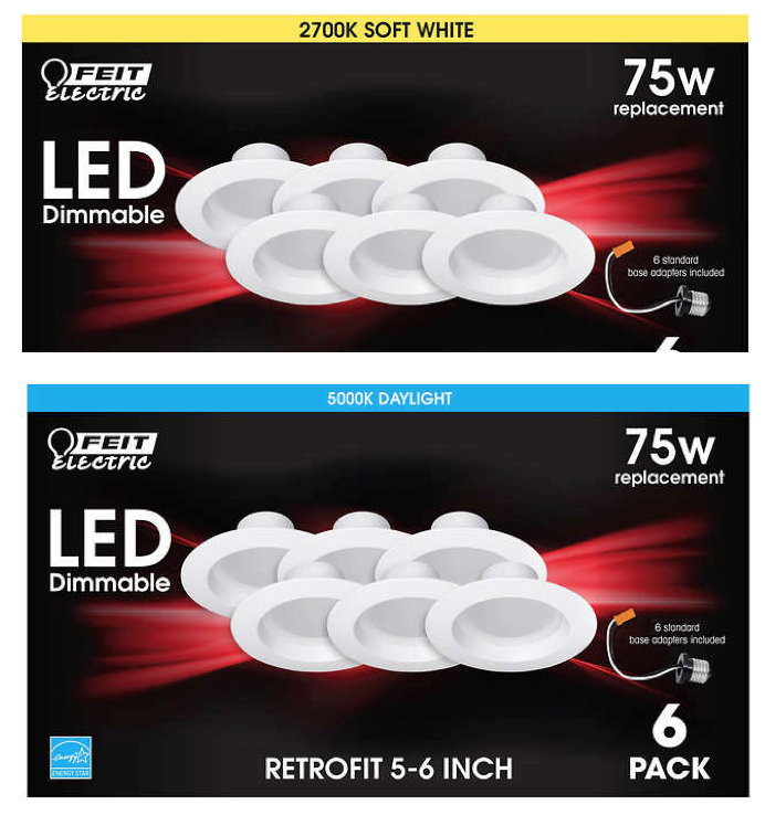 Feit LEDR56//3K LED 5-Inch to 6-Inch Dimmable