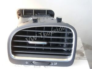 Genuine VW MK6 Golf Cabriolet Left Hand Air Vent  Black Chrome 5K0819703K NEW UK