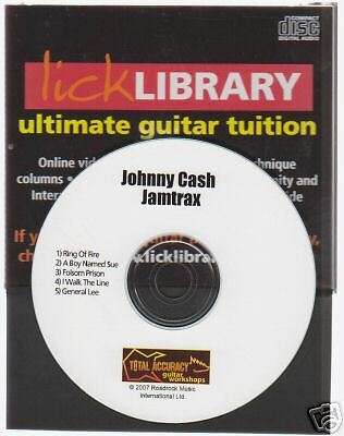 Lick Library Johnny Cash Guitar Jamtrax Jam Trax CD LEARN A BOY NAMED SUE HITS