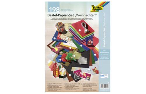 198 Pièces FOLIA Bastelpapier Set Noël