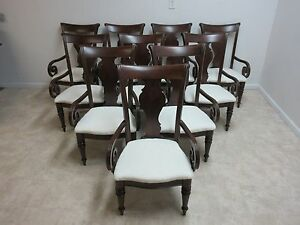 pennsylvania house cherry dining room furniture | Set of 10 Pennsylvania House Cherry Cortland Manor Dining ...