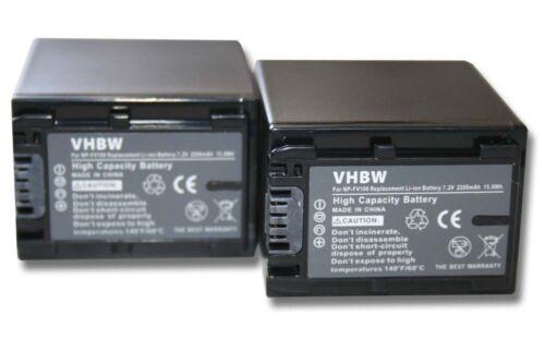 2x Batería 2200mAh PARA SONY Handycam FV100 HDR-CX 570 HDR-CX 730 E HDR-CX 740 E
